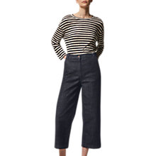 Buy Toast Wide Leg Denim Trousers, Indigo Online at johnlewis.com