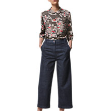 Buy Toast Guan Floral Spun Silk PJ Top, Multi Online at johnlewis.com