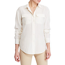 Buy Lauren Ralph Lauren Silk Crepe Workshirt, Herbal Milk Online at johnlewis.com
