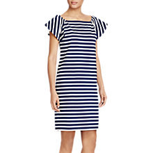 Buy Lauren Ralph Lauren Striped Casual Shift Dress, True Indigo/White Online at johnlewis.com