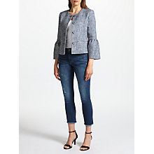 Buy Helene For Denim Wardrobe Trumpet Sleeve Jacket, Navy Online at johnlewis.com