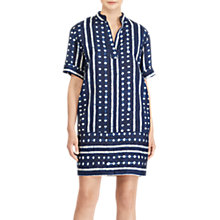 Buy Lauren Ralph Lauren Linen Blend Shift Dress, Navy Online at johnlewis.com