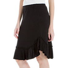 Buy Max Studio Jersey Frill Skirt, Black Online at johnlewis.com