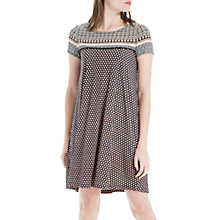 Buy Max Studio Printed Shift Dress, Black Online at johnlewis.com