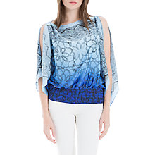 Buy Max Studio Printed Handkerchief Top, Blue Online at johnlewis.com