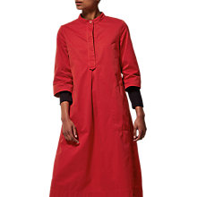 Buy Toast Cotton Twill Tunic Dress, Scarlet Online at johnlewis.com