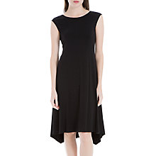 Buy Max Studio Cap Sleeve Jersey Dress, Black Online at johnlewis.com