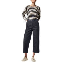 Buy Toast Stripe Linen Easy T-Shirt, Oatmeal/Blue-Black Online at johnlewis.com