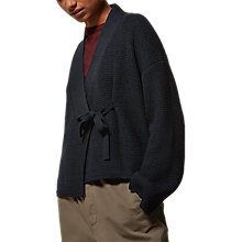 Buy Toast Knitted Wrap Jacket, Indigo Online at johnlewis.com
