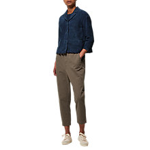 Buy Toast Twill Pull On Trousers, Dark Khaki Online at johnlewis.com