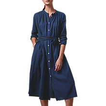Buy Toast Cotton Seersucker Crepe Dress, Indigo Online at johnlewis.com