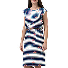 Buy Sugarhill Boutique Hetty Flamingo Stripe Dress, White/Navy Online at johnlewis.com