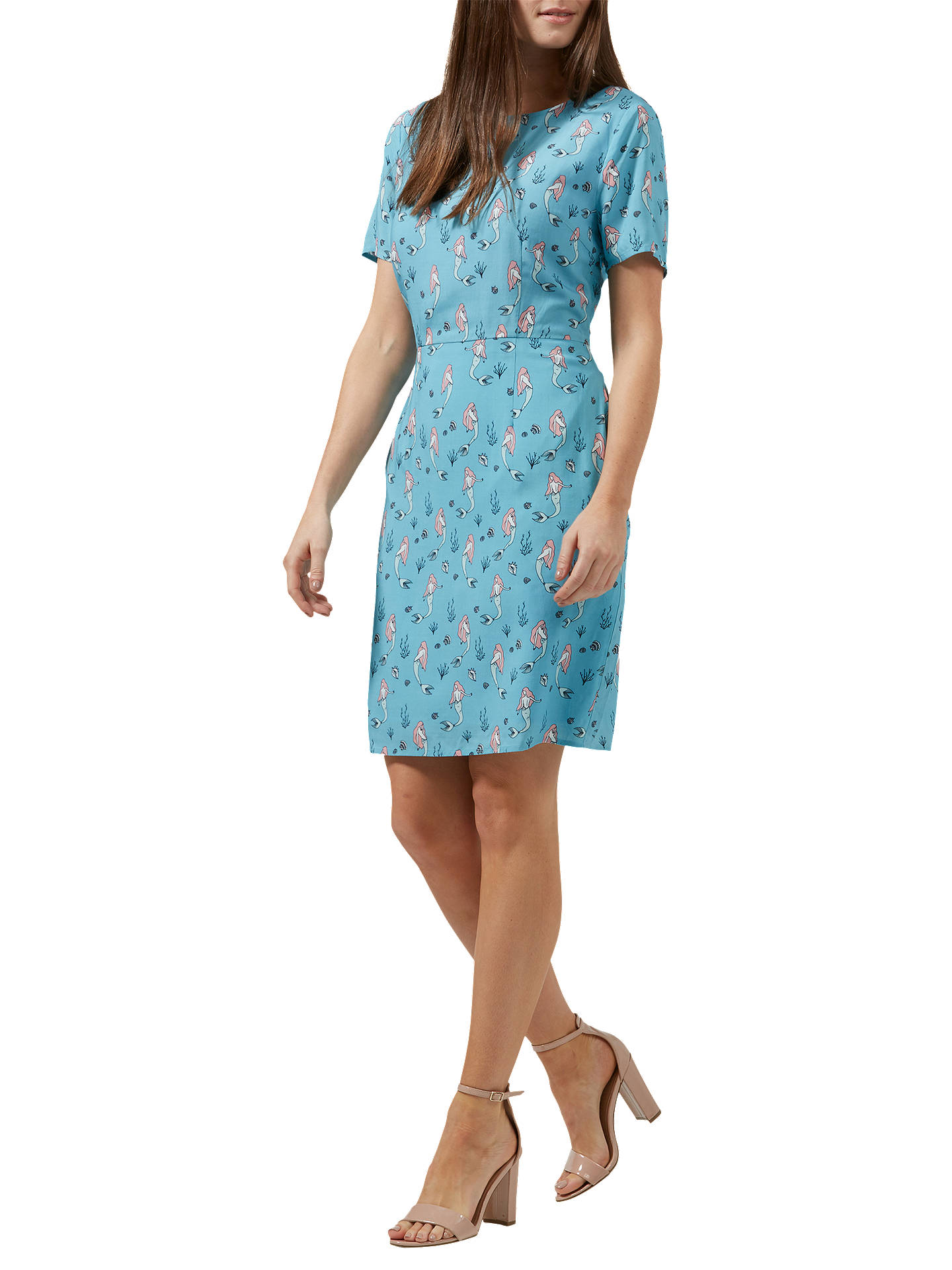 BuySugarhill Brighton Love Mermaid Shift Dress, Dusky Blue, 8 Online at johnlewis.com