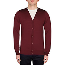 Buy John Petworth V-Neck Cardigan, Maroon Blaze Online at johnlewis.com