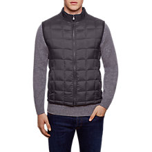 Buy Hackett London Knit Back Gilet, Charcoal Online at johnlewis.com