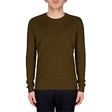 Buy John Smedley Military Jumper, Kielder Green Online at johnlewis.com
