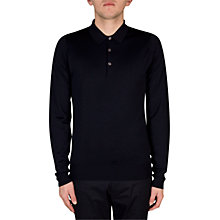 Buy John Smedley Belper Polo Shirt, Midnight Online at johnlewis.com
