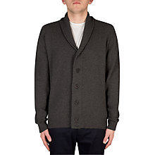 Buy John Smedley Patterson Shawl Collar Cardigan, Charcoal Online at johnlewis.com