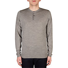 Buy John Smedley Russet Henley Long Sleeve, Silver Online at johnlewis.com