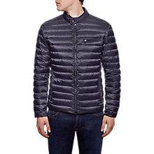 Buy Hackett London Lightweight Down Moto Jacket, Navy Online at johnlewis.com