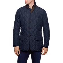 Buy Hackett London Norfolk Padded Blazer Jacket, Navy Online at johnlewis.com
