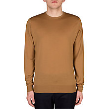 Buy John Smedley Lundy Crew Neck Long Sleeve Pullover, Camel Online at johnlewis.com