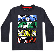 Buy Marvel Boys' Long Sleeve Printed T-Shirt, Navy Online at johnlewis.com