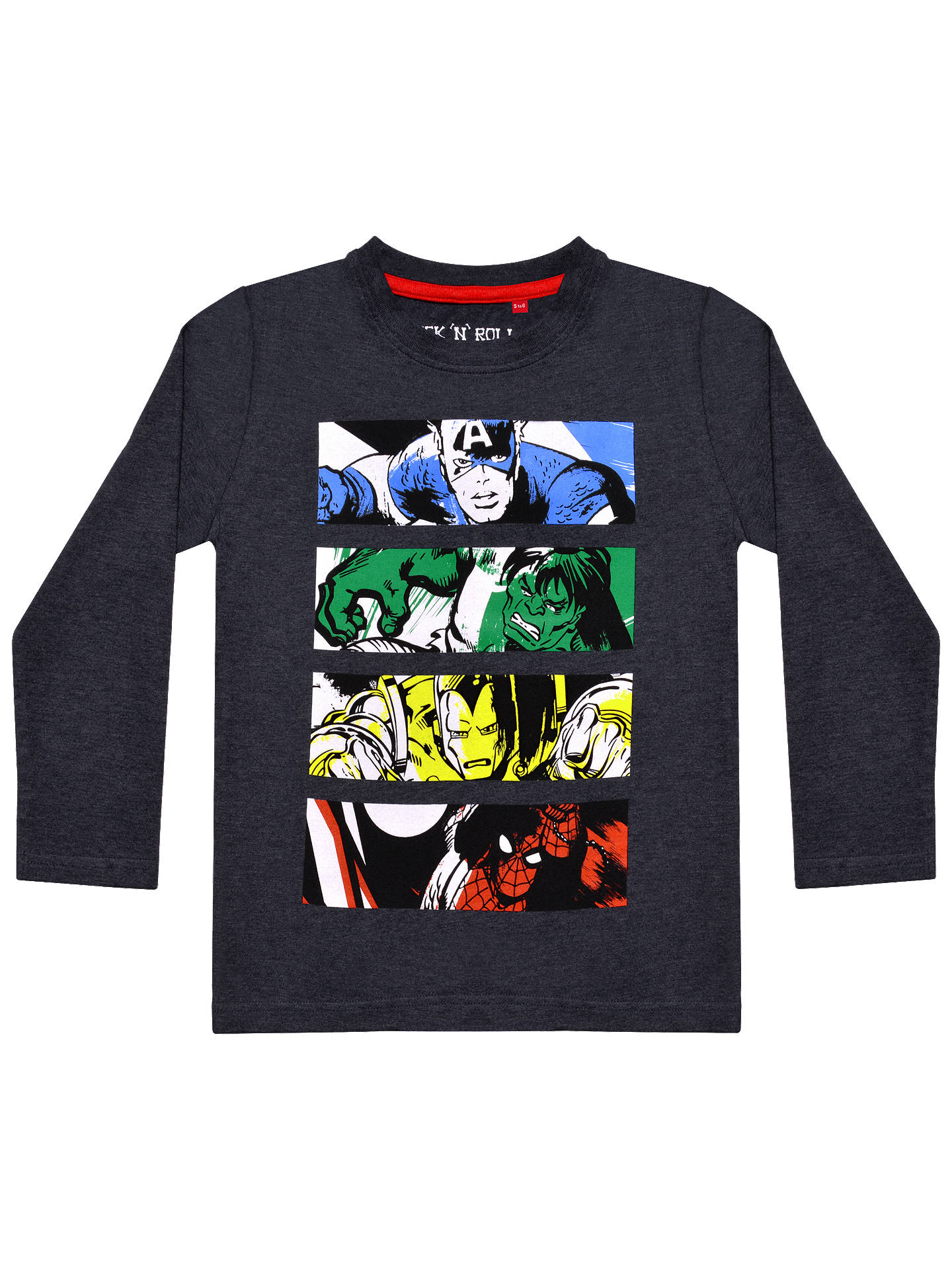 Spider-Man Marvel Boys Navy//Gray Graphic Tee Long Sleeve T-Shirt