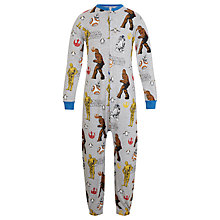 Buy Star Wars Children's All-Over Print Onesie, Grey Online at johnlewis.com