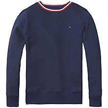 Buy Tommy Hilfiger Boys' Tommy Cotton Sweatshirt, Navy Online at johnlewis.com