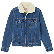 Buy Levi's Boys' Denim Trucker Jacket, Blue Online at johnlewis.com