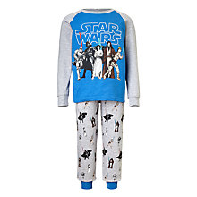 Buy Star Wars Children's Character Pyjamas, Blue/Grey Online at johnlewis.com