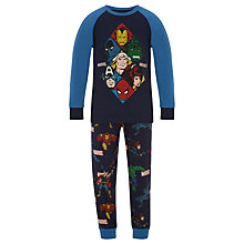 Buy Marvel Children's Printed Pyjamas, Navy Online at johnlewis.com