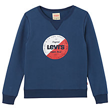 Buy Levi's Boys' Rondo Sweatshirt, Blue Online at johnlewis.com