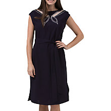 Buy Sugarhill Boutique Ahoy Cutwork Embroidered Dress, Navy/Off White Online at johnlewis.com