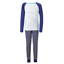 Buy John Lewis Children's Merry And Bright Pyjamas, Blue Online at johnlewis.com