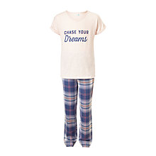 Buy John Lewis Children's Dreams T-Shirt Pyjamas, Navy Online at johnlewis.com