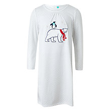 Buy John Lewis Children's Polar Bear Long Sleeve Night Dress, White Online at johnlewis.com