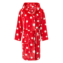 Buy John Lewis Children's Star Print Dressing Gown, Red Online at johnlewis.com