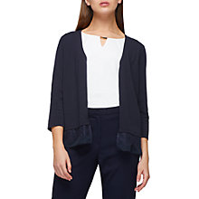Buy Jacques Vert Lace Trim Cardigan, Navy Online at johnlewis.com