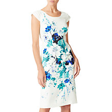 Buy Jacques Vert Hampton Floral Printed Dress, Multi Cream Online at johnlewis.com