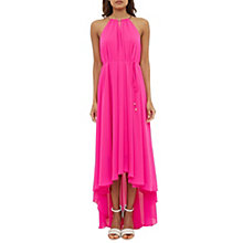 Buy Ted Baker Harpah Pleated Drop Hem Dress, Fuchsia Online at johnlewis.com