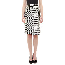 Buy Ted Baker Pensa Geometric Jacquard Skirt, Black Online at johnlewis.com