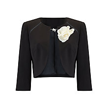 Buy Jacques Vert Raglan Detail Bolero and Corsage, Black Online at johnlewis.com