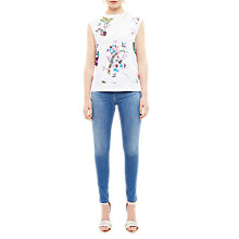 Buy Ted Baker Pueto Tropical Oasis Woven Jumper, White Online at johnlewis.com