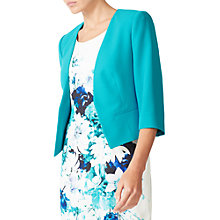 Buy Jacques Vert Crepe Jacket, Turquoise Online at johnlewis.com