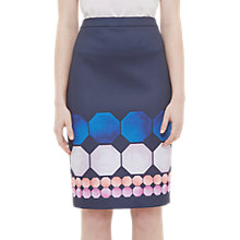 Buy Ted Baker Jaidey Marina Mosaic Pencil Skirt, Navy Online at johnlewis.com