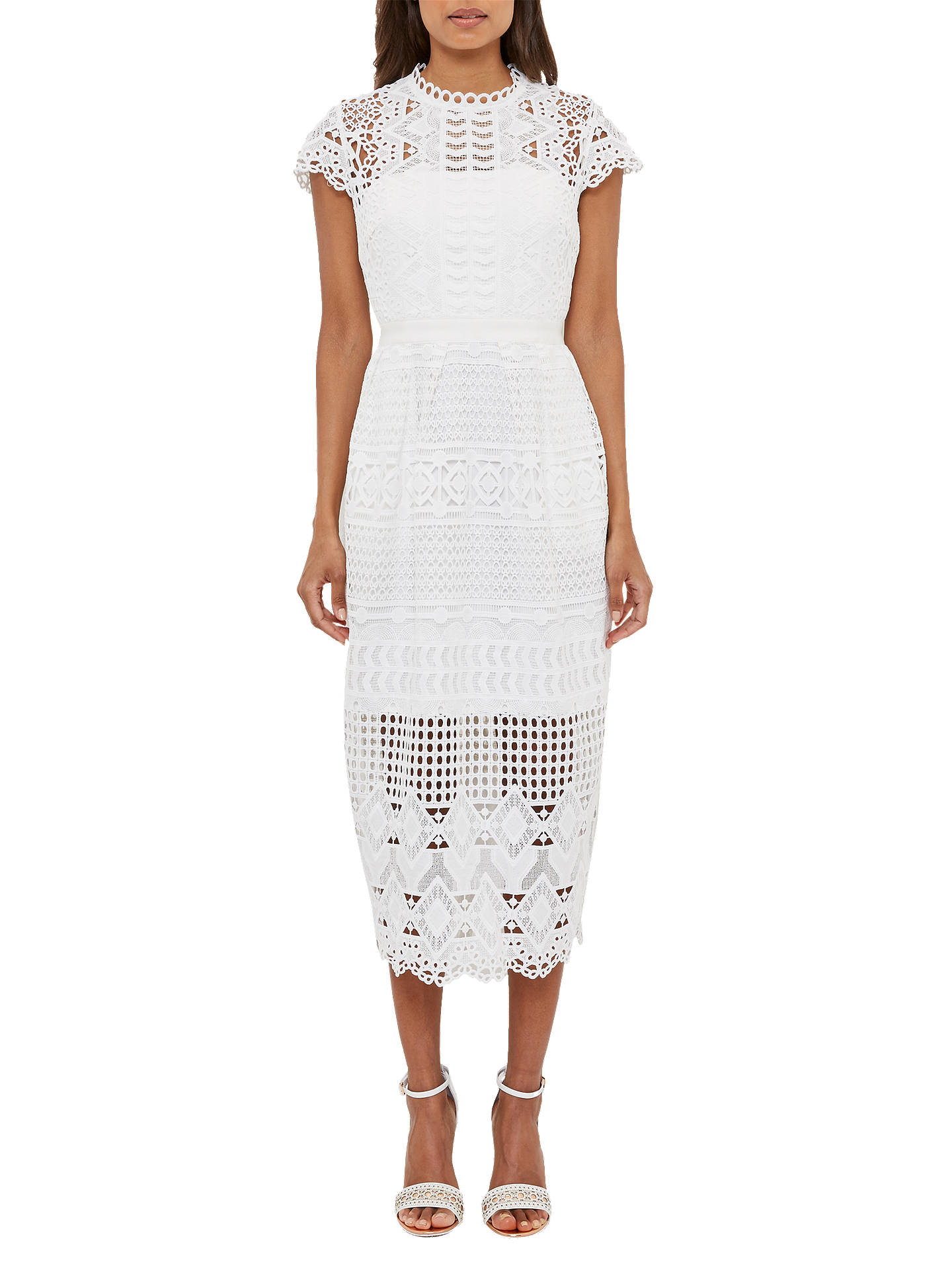 Buy Ted Baker Scalloped Lace Tunic Dress, White, 0 Online at johnlewis.com