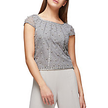 Buy Jacques Vert Jewel Top, Dark Grey Online at johnlewis.com