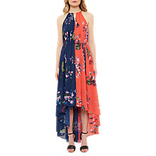 Buy Ted Baker Hanie Tropical Oasis Chain Detail Dress, Navy/Mid Red Online at johnlewis.com